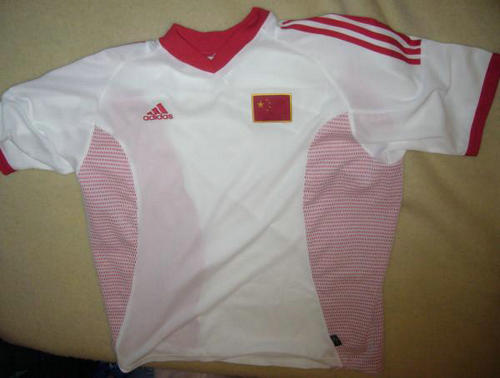 primera equipacion camiseta seleccion china baratas 2002